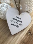 Shabby Personalised Chic Heart Gift ~ Friend ~ Humour ~ Birthday ~ Present - 253453020392
